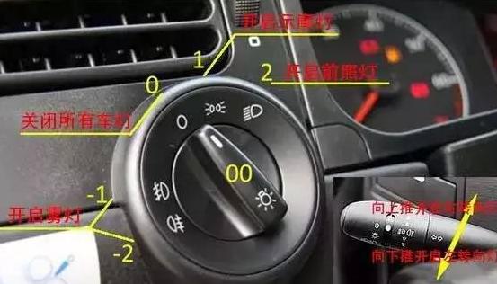 捷达车科目三灯光使用图解
