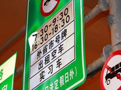 上海外地车限行规定2015